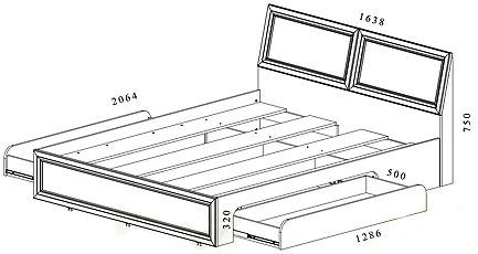 Двуспальные кровати своими руками чертежи