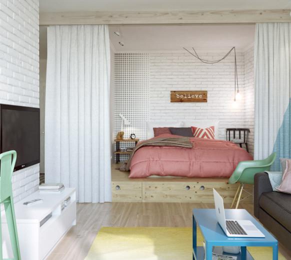 Большая кровать подиум