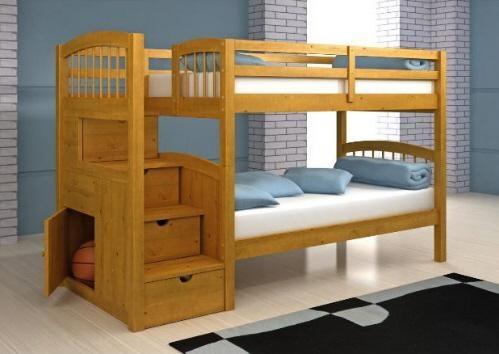Деревянная двухъярусная кровать для детей