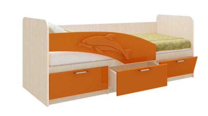 Детская кровать дельфин с ящиками