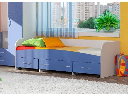 Детская кровать для мальчика с ящиками
