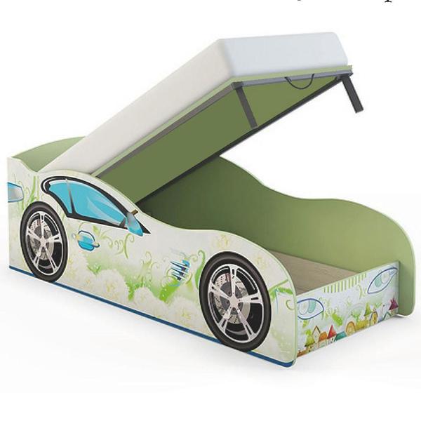 Детская кровать машина с подъемным механизмом