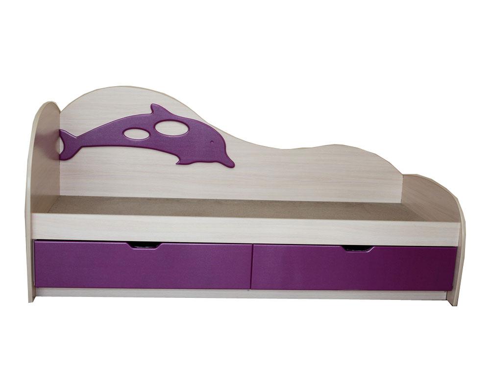 Детская кровать цвет индиго
