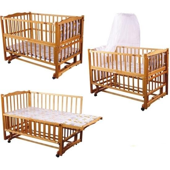 Детская кроватка трансформер (маятник) для новорожденных