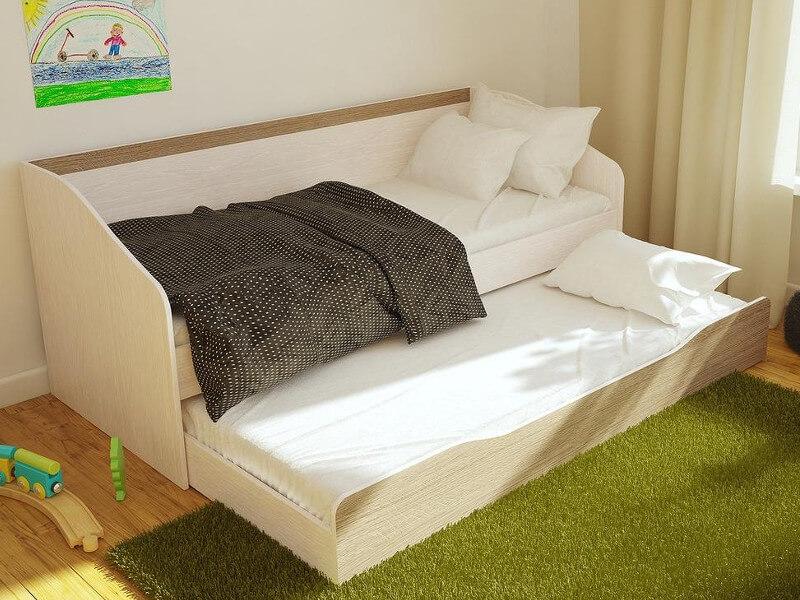 Детская полутороярусная кровать