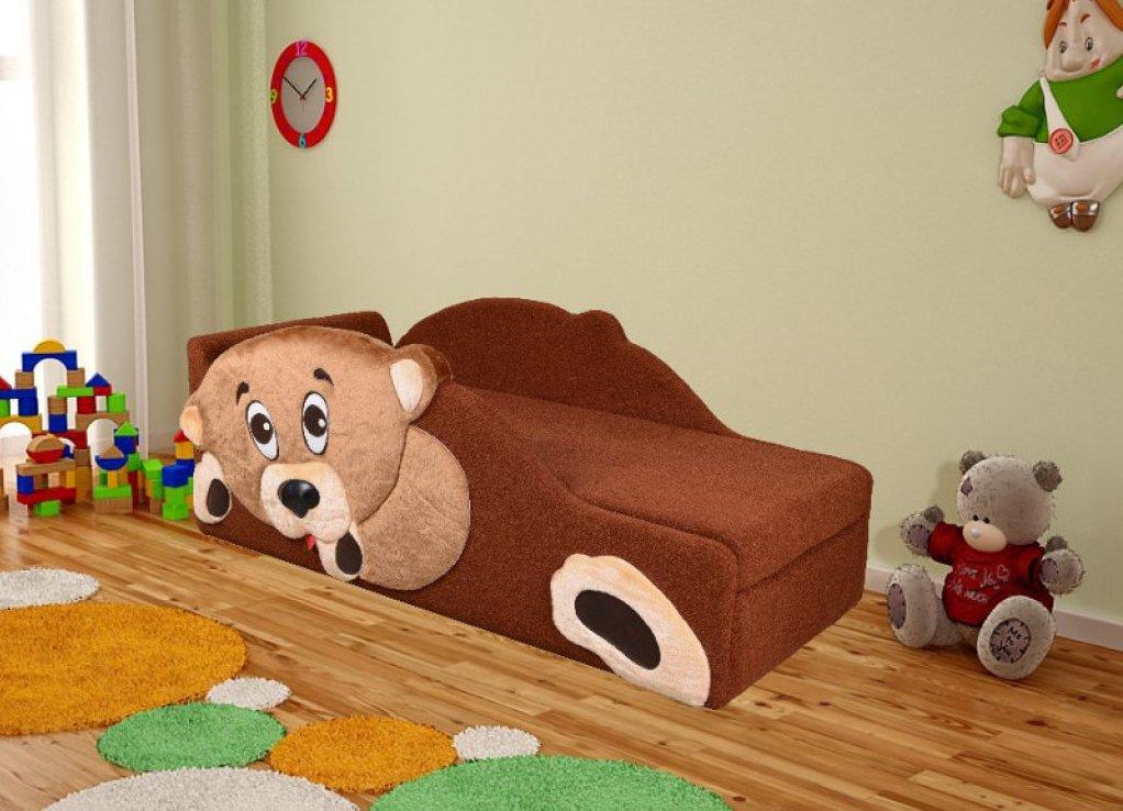 Детский диван кровать с мишкой