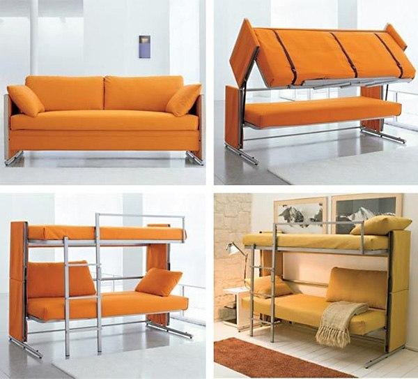Детский диван трансформер в двухъярусную кровать