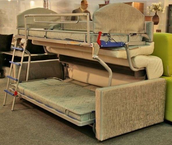 Диван-трансформер в двухъярусную кровать своими руками