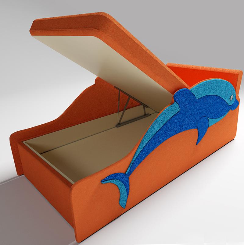 Диван кровать Дельфин с встроенным ящиком