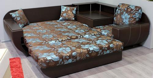 Диван кровать в коричневом цвете