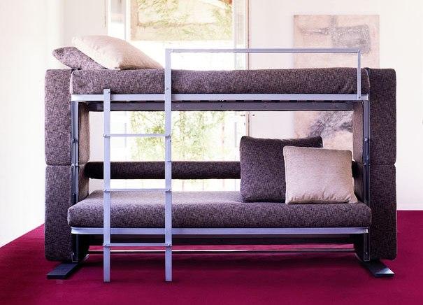 Диван трансформер в двухъярусную кровать, вид изделия