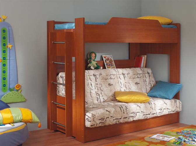 Двухъярусная кровать диван для ребенка