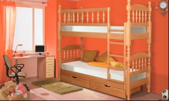Двухъярусная кровать для детей разборная