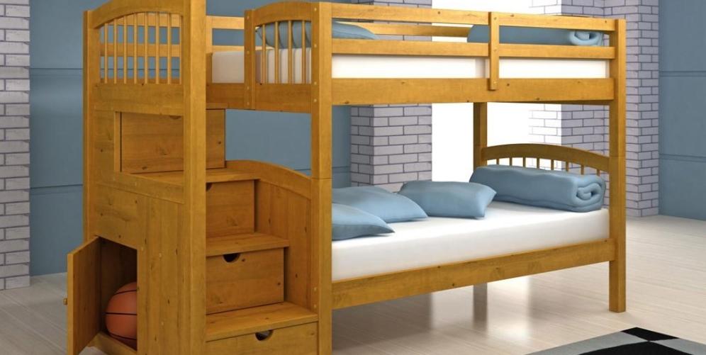 Двухъярусная кровать для ребёнка