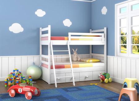 Двухъярусная кровать - двое или больше детей и мало места
