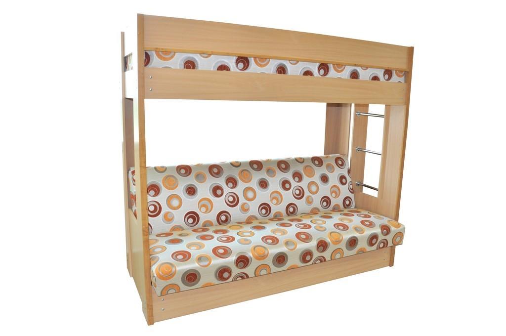 Кровать двухъярусная на основе дивана