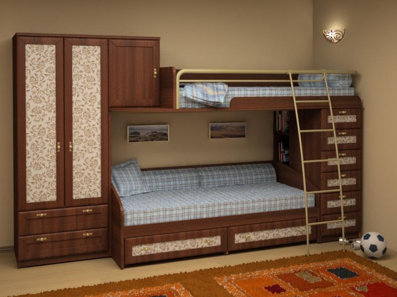 Двухъярусная кровать с диваном, как правильно сделать выбор