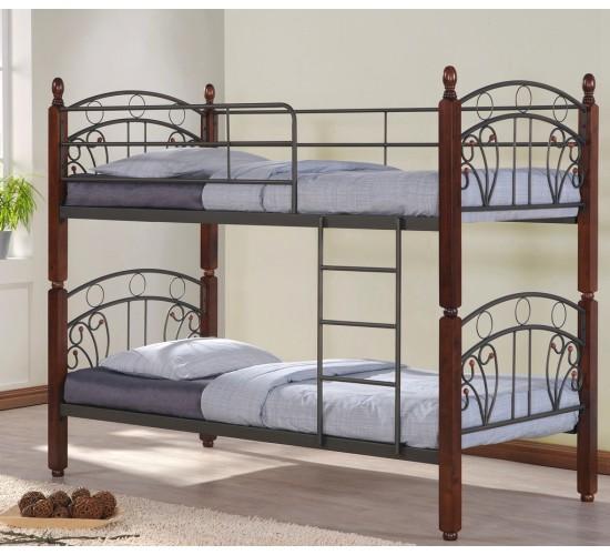 Двухъярусная кровать с ковкой