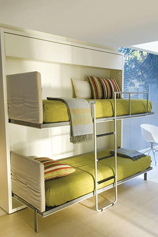 Двухъярусная кровать шкаф