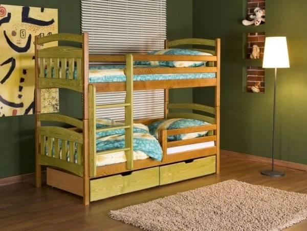 Двухъярусная кровать траснформер из натурального дерева