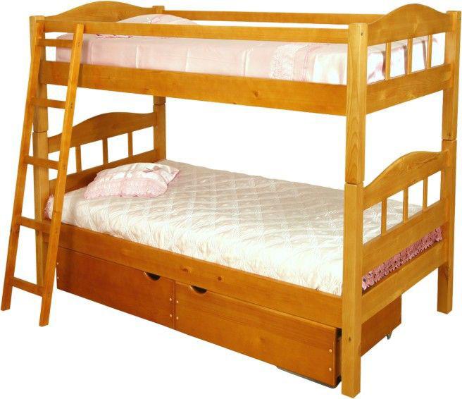 Двухъярусная кровать универсальная разборная с ящиками
