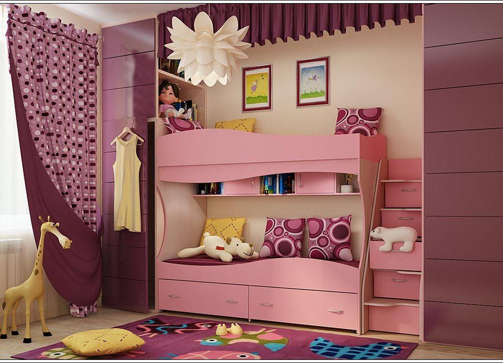 Двухъярусные кровати для девочек