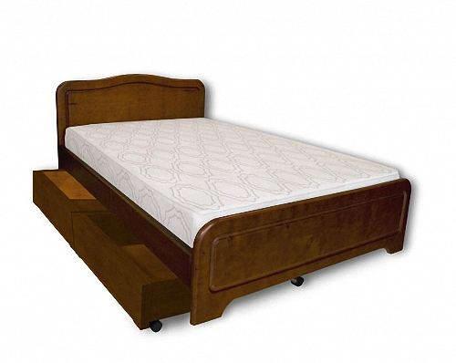 Двуспальная кровать с ящиками на колесиках