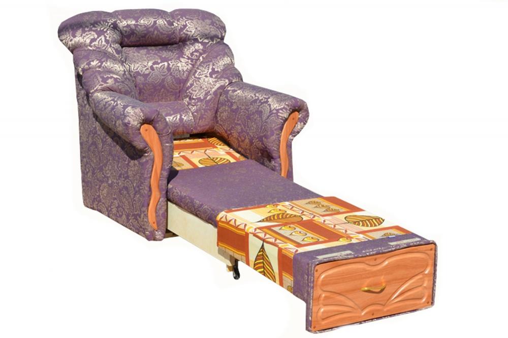 Фиолетовое кресло кровать