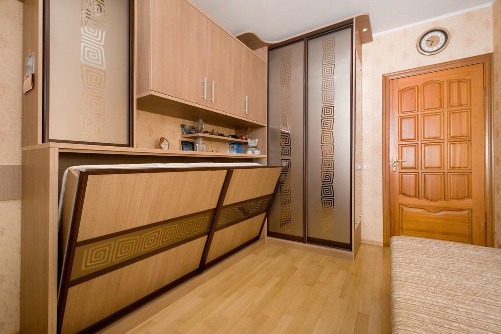 Фунциональной откидной кровати шкафа