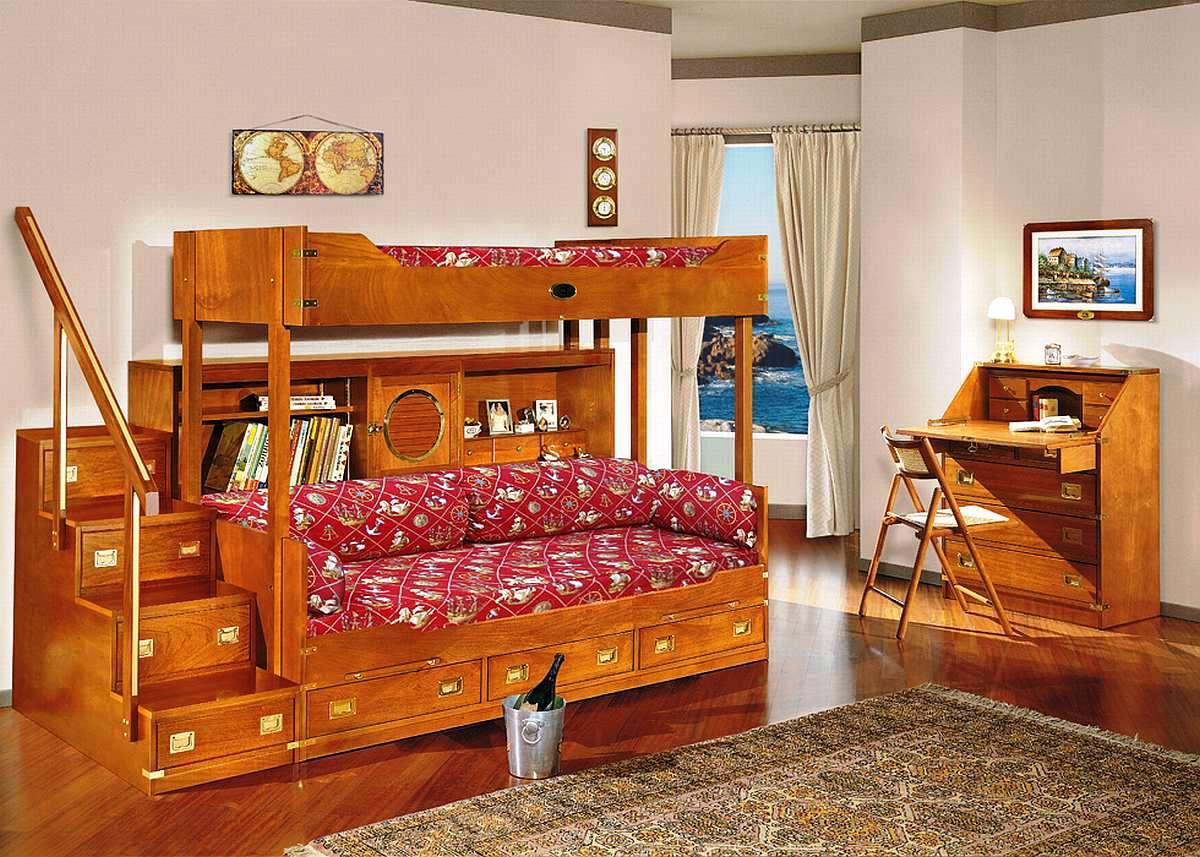Габаритная двухъярусная кровать