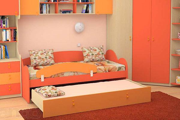 Галерея интересных детских комнат с выдвижными кроватями