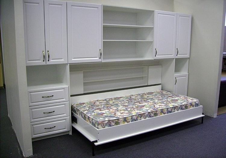 Горизонтальный шкаф кровать