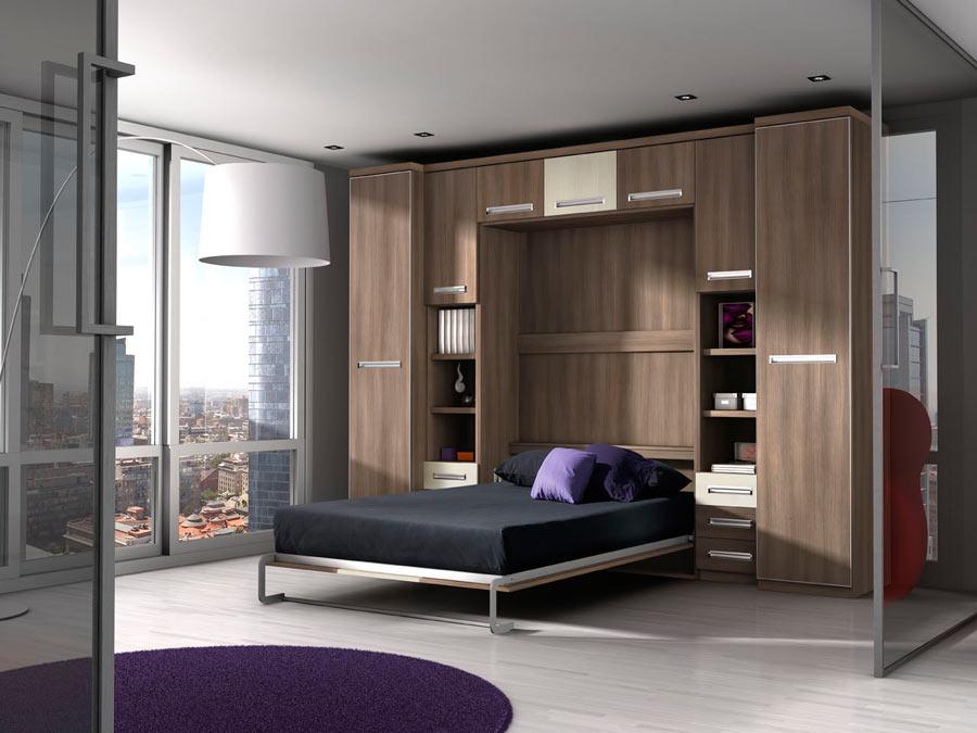 Интерьер гостиной с кроватью трансформер