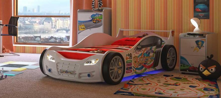 кровать в виде машины для мальчика фото