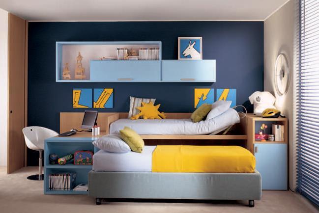 Компактная кровать для двоих детей