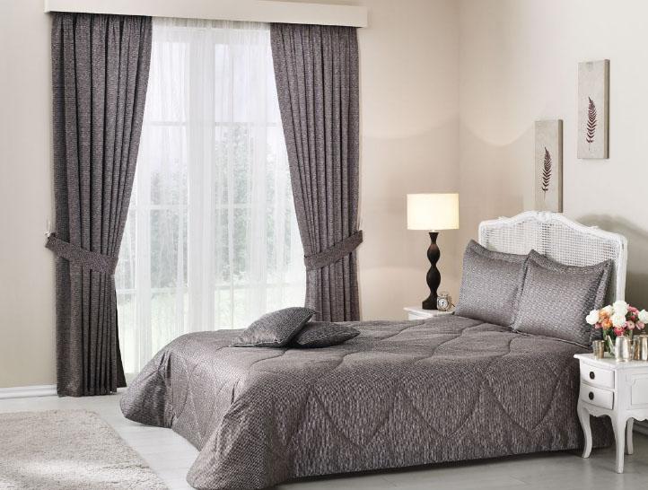 Комплект из штор и покрывала для спальни
