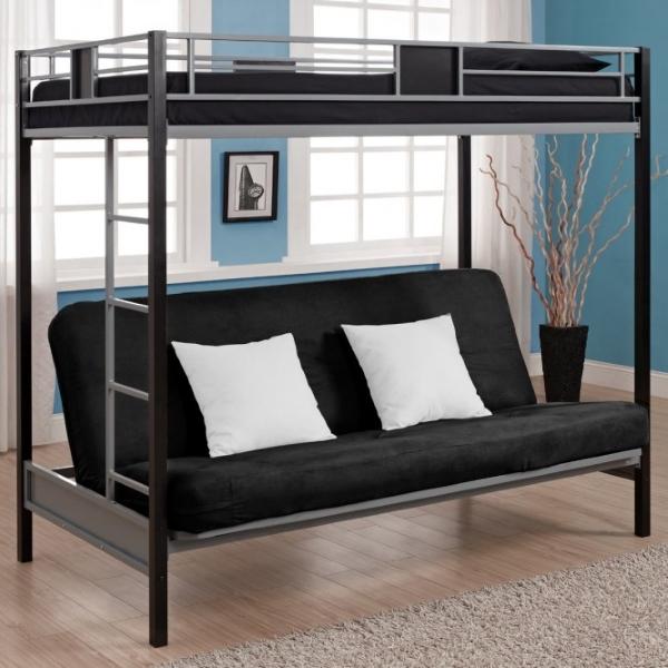 Красивая кровать чердак с диваном внизу