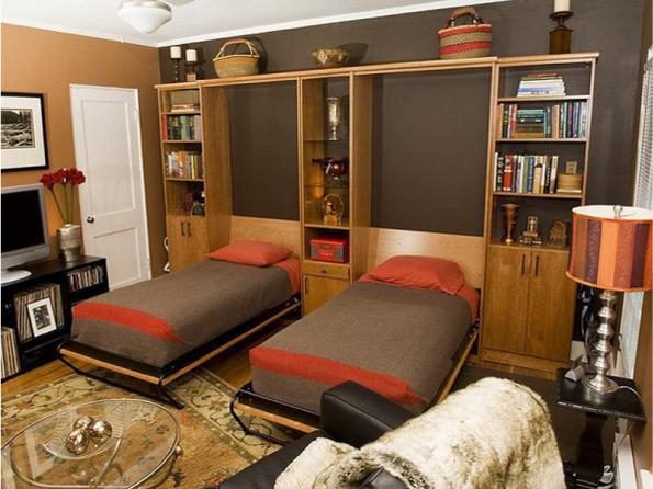 Красивый шкаф трансформер в дизайне комнаты