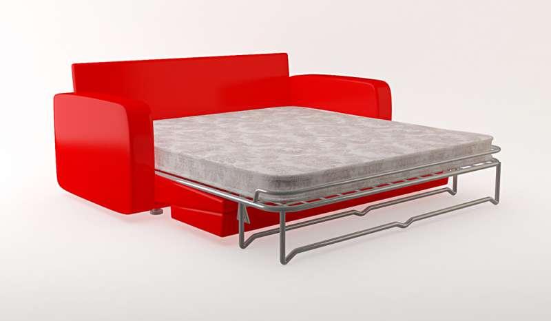 Красный диван с ортопедическим матрасом