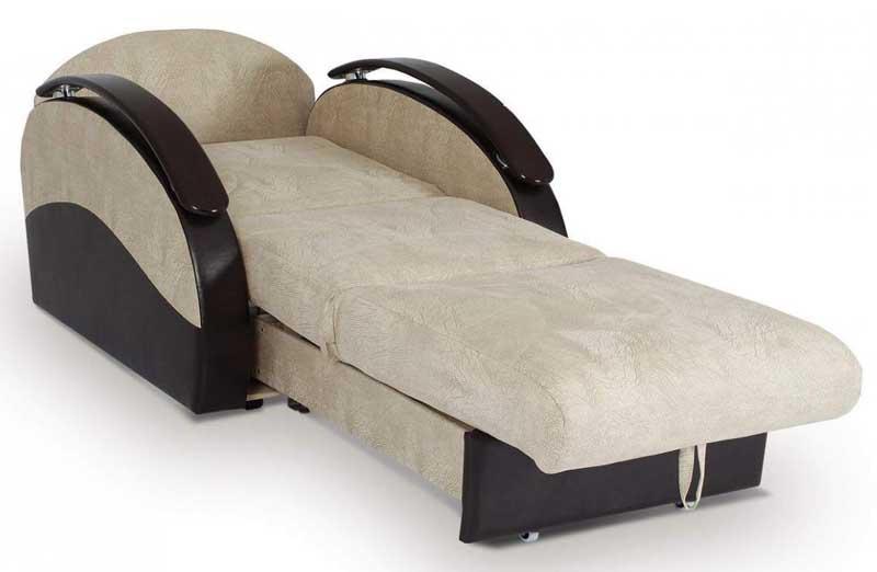 Кресло кровать из комбинированных материалов