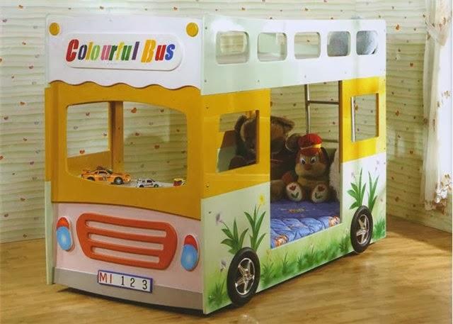 Кровать автобус с бортиками