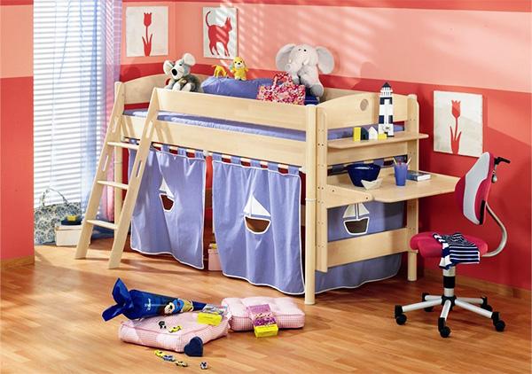 Кровать чердак для детей с игровой зоной