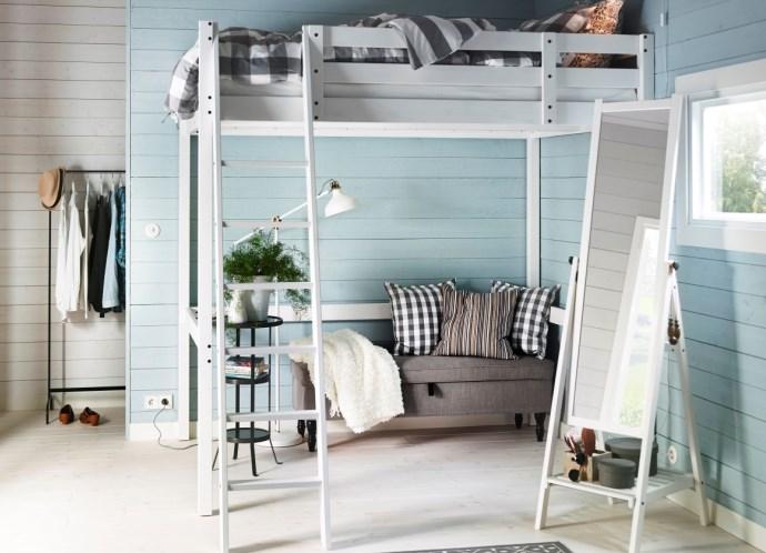 Кровать чердак с диваном внизу