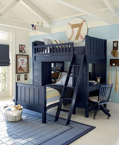 Кровать чердак с двумя кроватями
