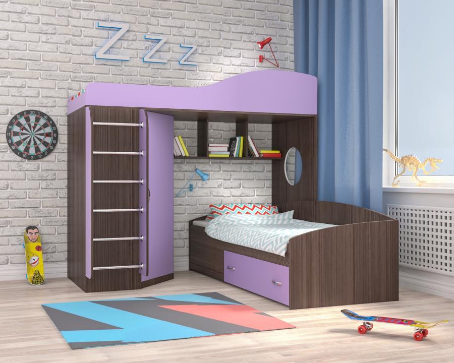 Кровать чердак с двумя спальными местами
