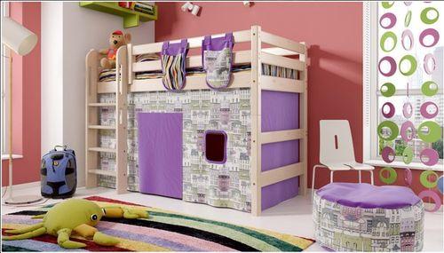 Кровать чердак с вертикальной лестницей