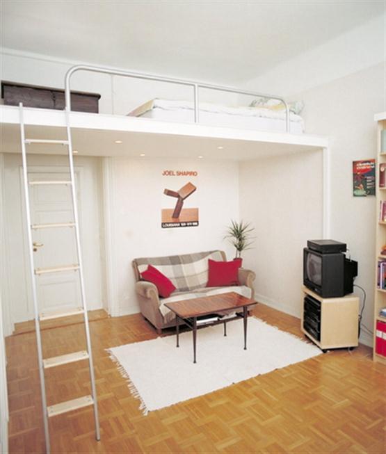 Кровать чердак в спальне для детей и взрослых