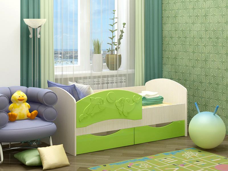 Кровать дельфин может быть разных цветов