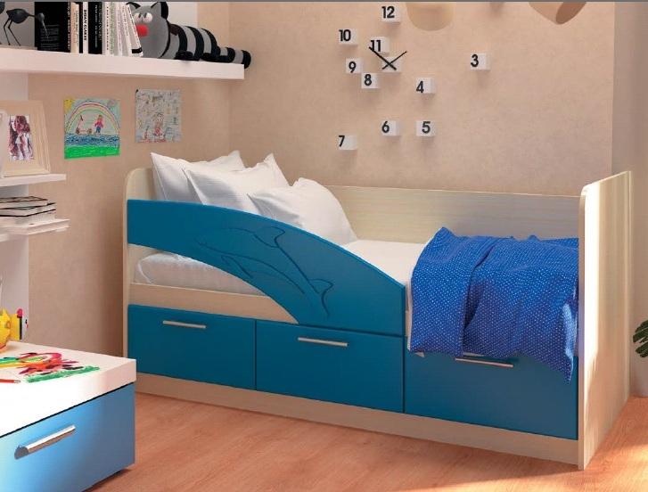 Кровать дельфин с удобным бортиком