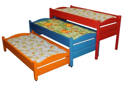 Кровать детская трехъярусная выкатная